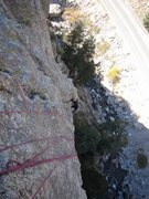 Rock Climbing Photo: Kat A. emerges from the steep, middle section of G...