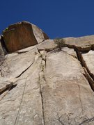 Rock Climbing Photo: Decent pro and easier climbing makes turning the r...