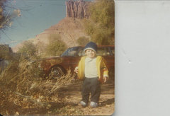 Rock Climbing Photo: Charles Ince with the Palisade at a young age.