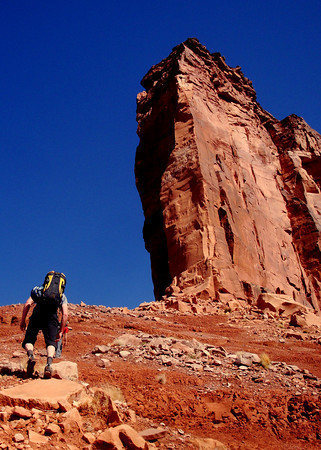 Rock Climbing Photo: Approaching Immoral Disapproval on the first ascen...