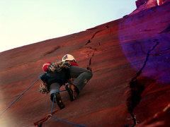 Rock Climbing Photo: Asa on the 3rd pitch.