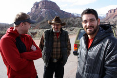 Rock Climbing Photo: Chilling with Vern, Charles' dad and an old uraniu...