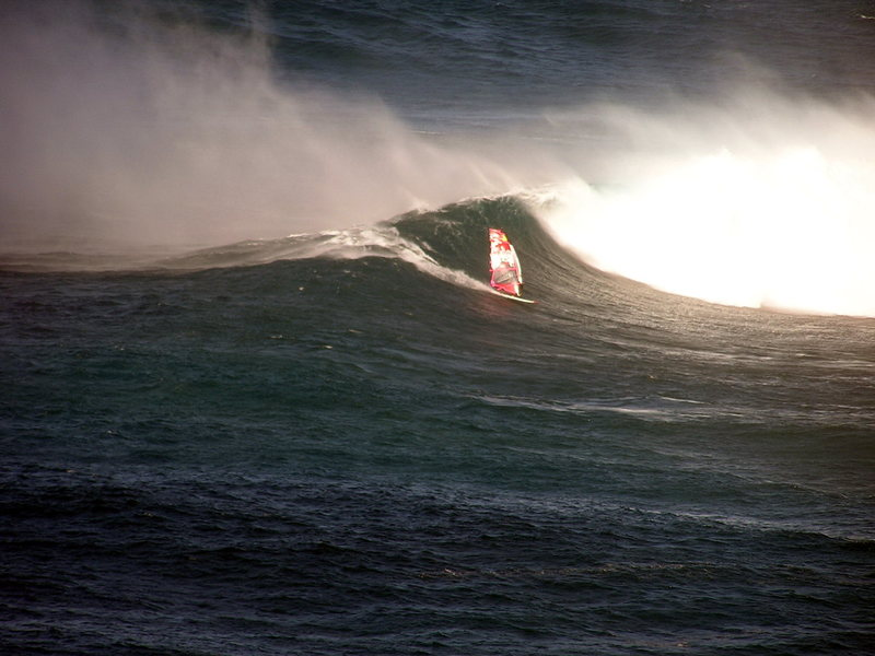 Mitchi Schweiger at Peahi<br> Photo: Olaf Mitchell