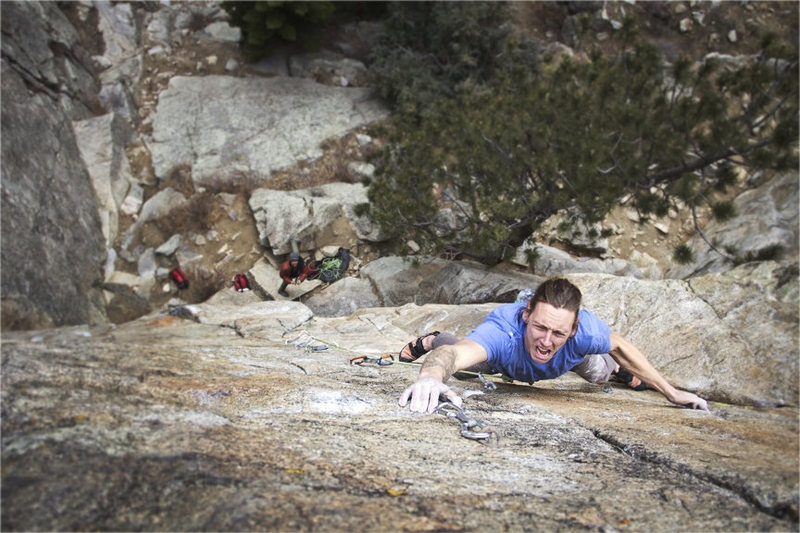 Rock Climbing Photo: Photo by Keith North. Matt Lloyd making a ridiculo...