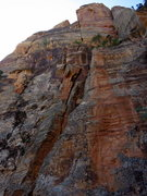 Rock Climbing Photo: View from the base of Mythical Kings & Iguanas. Lo...