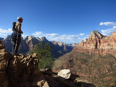 Rock Climbing Photo: Nathan on the top of Mythical Kings & Iguanas.   P...