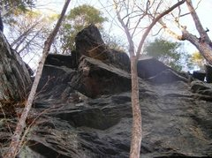Rock Climbing Photo: looking up from the bottom of Little Rumney. Only ...