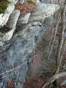 Rock Climbing Photo: Little Rumney as scene from the top of the main wa...