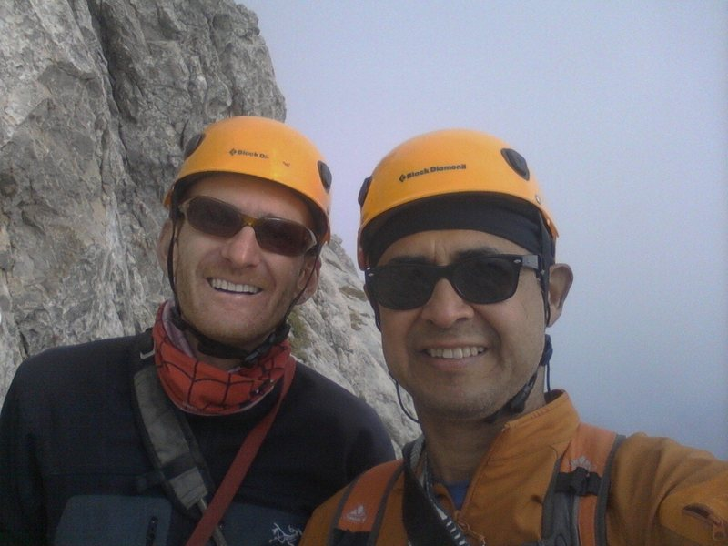 Rock Climbing Photo: Marc and I near the summit.