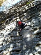 """Rock Climbing Photo: Starting to get pumped on """"Donor""""."""