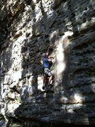 """Rock Climbing Photo: Scott sussing-out """"Donor""""."""