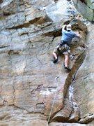 Rock Climbing Photo: Scott escapes the crux down low.