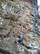 "Rock Climbing Photo: Scott showing good form on his OSA of ""Tissue..."