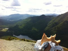 Rock Climbing Photo: What better way to enjoy the summit of Mt. Colden ...