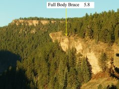"Rock Climbing Photo: View from east side.  Location of ""Full Body ..."