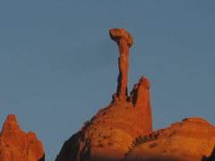 Rock Climbing Photo: Hiking out from Rhino's Horn at sunset looking at ...
