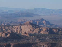 While RH isn't the most classic of desert towers, it has one of the most stunning summits.  The La Sals at your level to the east, to the west all of Moab all the way out to the I-70/SR Swell.