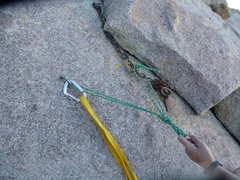 Rock Climbing Photo: East Descent of Sugarloaf top anchor.