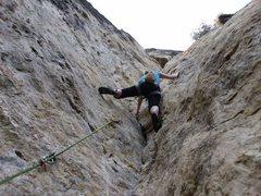 Rock Climbing Photo: Lorrizzo learning to stem.