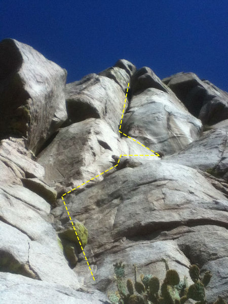 """Rock Climbing Photo: The view right after the """"window"""". The d..."""