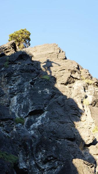 Cool shadow silhouette near the top of  [[Good Freakin Gads]]http://www.mountainproject.com/v/good-freakin-gads/106210779
