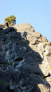 Rock Climbing Photo: Cool shadow silhouette near the top of  Good Freak...