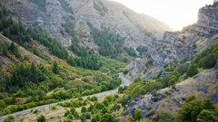 Rock Climbing Photo: A nice view of Blacksmith Fork Canyon