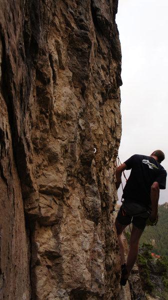 Rock Climbing Photo: Will having a go on Lemonstone