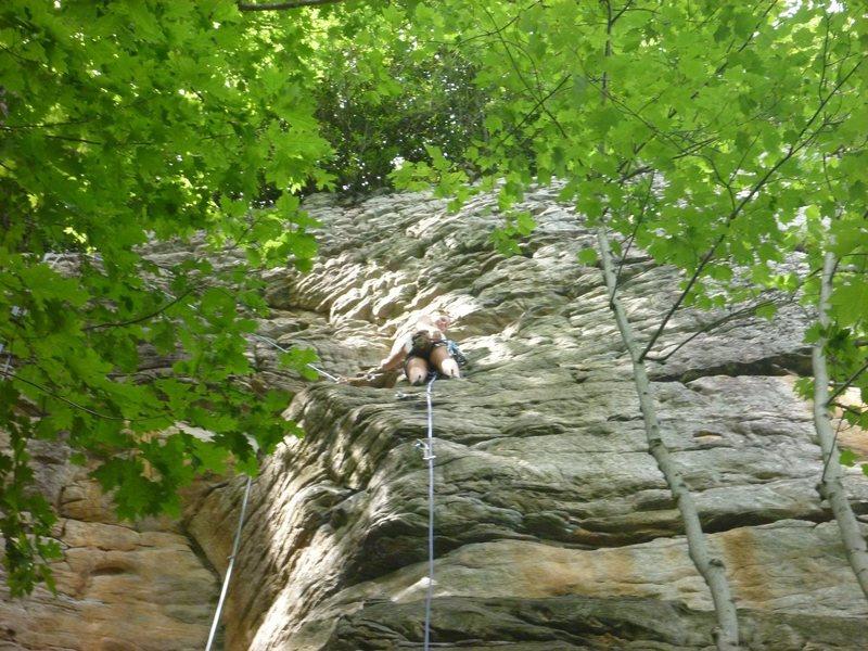 Rock Climbing Photo: Giovanna's first lead