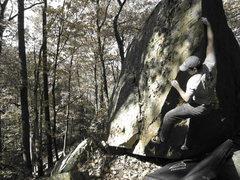 Rock Climbing Photo: A little bit different beta.  That reach is do-abl...