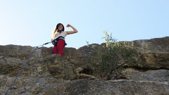 Rock Climbing Photo: My sister Maili at the top of Twitterpation