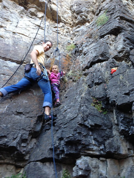Climbing the Shoot with Sophie.  My 4-year-old took this picture.