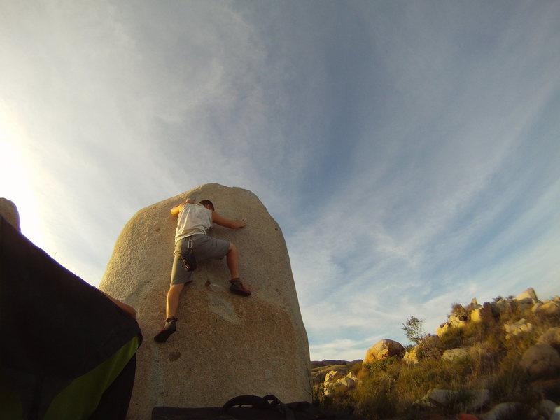 Rock Climbing Photo: key foot