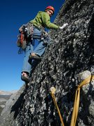Rock Climbing Photo: belay knobs at end of traverse pitch