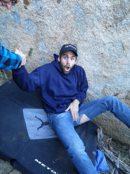 Rock Climbing Photo: almost castration