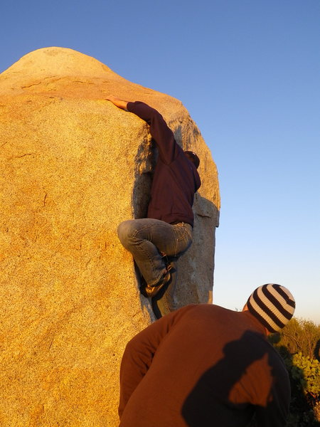 Rock Climbing Photo: jeff on finishing moves
