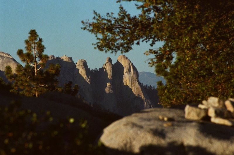 The Needles, pictured from the summit of dome rock.