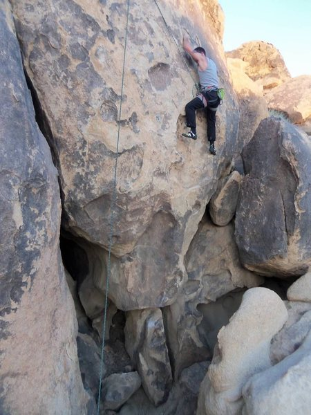 Rock Climbing Photo: RIght about were I fall...