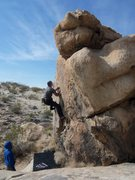 Rock Climbing Photo: Working the low crux section of this side.