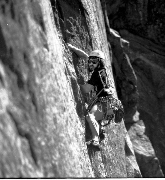 Rock Climbing Photo: Spencer Pitman on P1 of C'est la Vie. Eric Schuler...