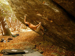 Rock Climbing Photo: Greg Loomis making the FA of Hades on the Olympus ...