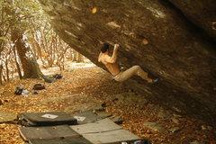Rock Climbing Photo: Greg Loomis starting Hades