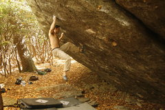 Rock Climbing Photo: Sticking the lunge on Hades