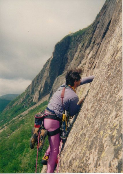 Rock Climbing Photo: One from the Vaults.  Edge on an ascent of Moby Gr...