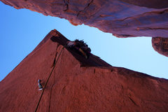 Rock Climbing Photo: Crooked Arrow Spire summit pitch.