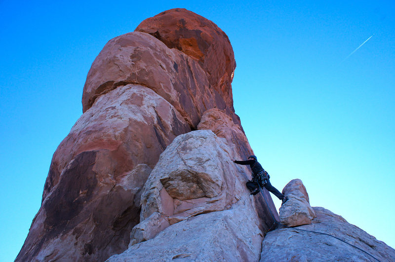 Rock Climbing Photo: Opening moves on Dark Angel.