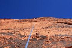 Rock Climbing Photo: Steve waving from above