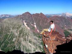 Rock Climbing Photo: The Diving Board on Pyramid Peak.
