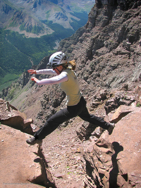 "Rock Climbing Photo: ""Leap of Faith"" on Pyramid's standard ro..."