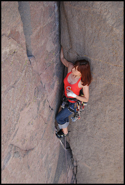 "Rock Climbing Photo: Aerili on ""Pumping the Slots"". Photo by ..."